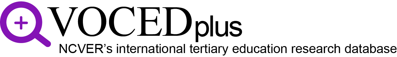 VOCEDplus, the international tertiary education and research database logo