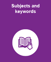 Subjects and keywords